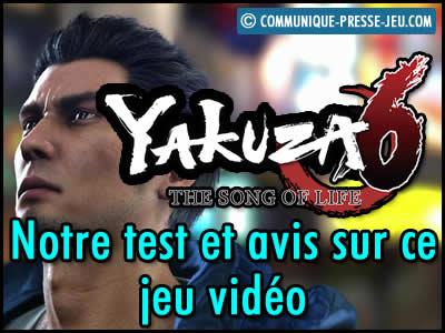 Yakuza 6 the Song of Life, notre test et avis sur ce jeu vidéo.