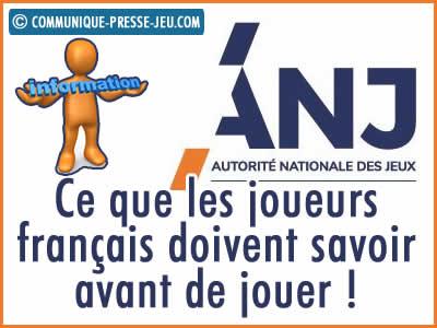 ANJ, ce que les joueurs français doivent savoir avant de jouer !