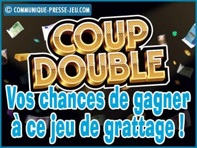 Jeu de grattage Coup Double de la FDJ, vos chances de gagner !