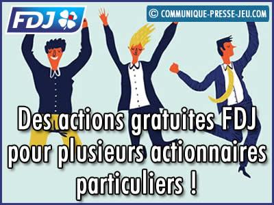 Des actions gratuites FDJ pour plusieurs actionnaires particuliers.