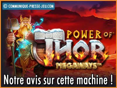 Machine à sous Power of Thor Megaways de Pragmatic Play - Avis sur cette slot !