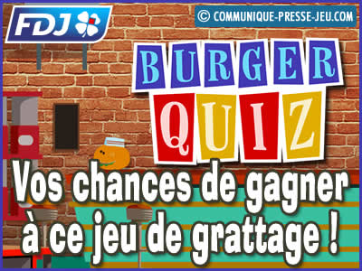 Jeu de grattage Burger Quiz de la FDJ, vos chances de gagner à ce jeu !
