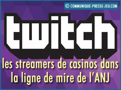Twitch : les streamers de casinos en ligne dans la ligne de mire de l'ANJ.